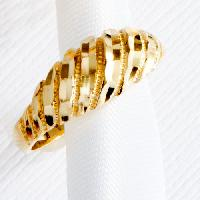 Yellow 10kt. Gold Diamond Cut Dome Ring 7, Gold