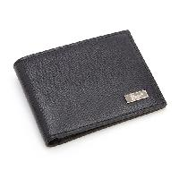 Royce Leather RFID Hipster Bi-fold Wallet - Black , Black