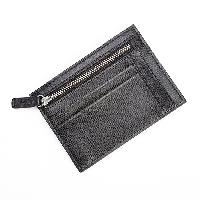 Royce Leather RFID Slim Card Case Wallet - Black , Black