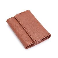Royce Trifold Key Case & Wallet - Tan , Tan