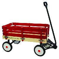 Grand Forward Little Box 34in. Wooden Wagon - Red , Red
