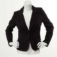 Juniors XOXO Solid Long Sleeve EDV 1-Button Jacket L, Black