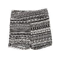 Girls (7-16) 1st Kiss Aztec Print Bike Shorts 10/12, Black/White