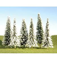 Bachmann Snow Covered Pine Trees