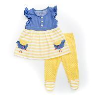 Girls (4-6x) Nannette Bird Pocket Leggings Set 4, Blue