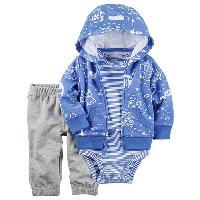 Baby Boy (3-245M) Carter's(R) Pirate Map Hoodie Set 12 Months, Blue