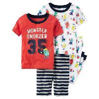 Baby Boy (12-18M) Carter's(R) Monster 4pc. Sleep Set 12 Months, Multi