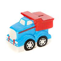 Baby Boy Tri-Coastal Dump Truck Ceramic Bank , Blue/Red