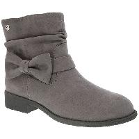 Girls Nina Pinky Ankle Boots - Grey Microsuede 5 M, Grey Microsuede