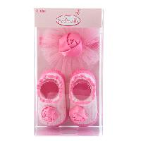 Baby Girl  (0-12M) so'dorable Booties/Headwrap Set 0-12 Months, Pink
