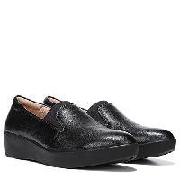Naturalizer Landrie Wedge Loafers - Black 4 M, Black