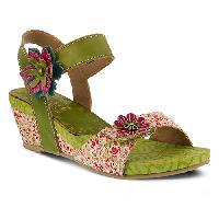L'Artiste Laisis Platform Sandals  Lime/Multi 42, Lime/Multi