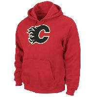 Mens Majestic(R) Calgary Flames Long Sleeve Pullover L, Athletic Red