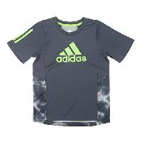 Boys (4-7) adidas(R) Smoke Print Training Top 5, Dark Grey