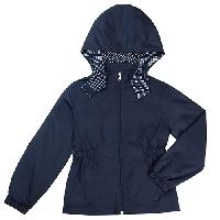 Girls (4-6x) French Toast Pongee Jacket 4, Navy
