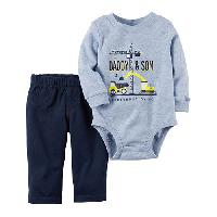 Baby Boy (NB-24M) Carter's Construction Pants Set Newborn, Blue