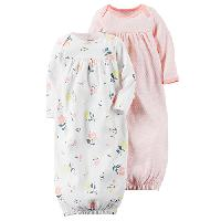 Baby Girl Carter's(R) Floral & Geometric Gowns , Pink