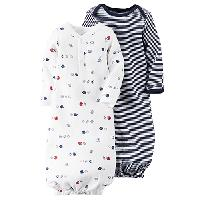 Baby Boy Carter's 2pc. Sports & Stripe Sleep Gowns One Size Fits Most, Navy
