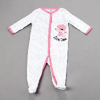 Baby Girl (NB-9M) Quiltex Little Diva Coveralls 3-6 Months, White
