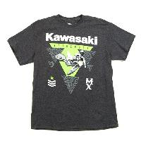 Short Sleeve Kawasaki Tee XL, Dark Charcoal Heather