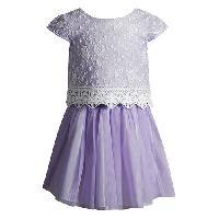 Girls (4-6x) Youngland 3pc. Lace Tutu Dress Set 4, Purple/White
