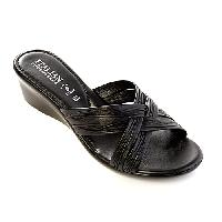 Italian Shoemakers Leone-3 Wedge Sandals 10 M, Black