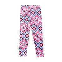 Girls (7-16) One Step Up Geometric Leggings - Pink L, Pink Spring