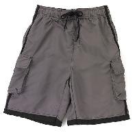 NBN Gear Solid Pieced Board Shorts L, Chili/Black