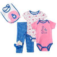 BabyGirl (0-9M) Baby Gear Heart Elephant Set 0-3 Months, Blue
