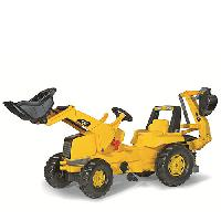 KETTLER(R) rolly(R) CAT(R) Backhoe Loader Pedal Tractor , Yellow