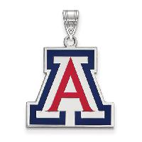University of Arizona Large Enamel Pendant , Blue/Multi