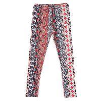 Girls (7-16) A. Byer Print Leggings L, Red Multi