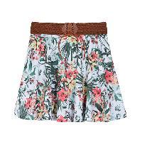 Girls (7-16) A. Byer Floral Macrame Waist Skirt L, White/Green