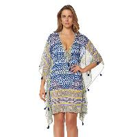 Bleu by Rod Beattie Road To Morocco Cover-Up M/L, Blue Multi