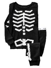 Gap Glow In The Dark Skeleton Sleep Set - True black v2 3