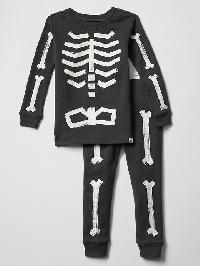 Gap Glow In The Dark Skeleton Sleep Set - Soft black