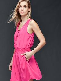 Gap Smock Dress - Palm springs pink