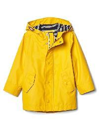 Gap Jersey Lined Raincoat - Rainslicker yellow