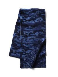 Gap Soft Print Scarf - Blue camo