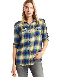 Gap X Pendleton Boyfriend Shirt - Blue multi plaid