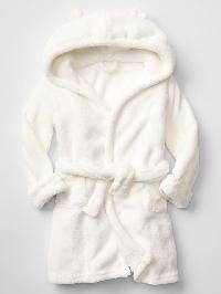 Gap Fleece Bear Robe - New off white