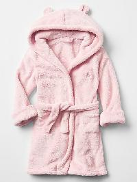 Gap Fleece Bear Robe - Icy pink