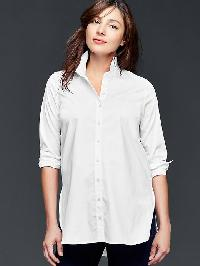 Gap Tailored Poplin Tunic Shirt - White