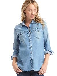 Gap Western Chambray Shirt - Denim