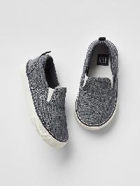 Gap Chambray Slip On Sneakers - Indigo chambray