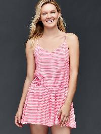 Gap Stripe Cami Skort Romper - Pink stripe