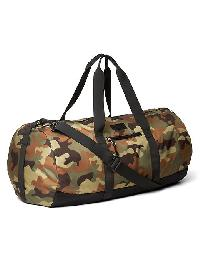Gap Nylon Packable Duffel Bag - Green camo