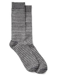 Gap Thin Stripe Crew Socks - Heather grey