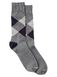 Gap Argyle Crew Socks - Navy