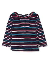 Gap Printed Keyhole Tee - Blue uniform
